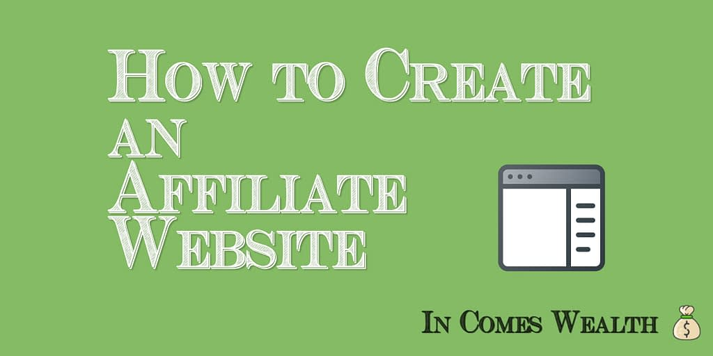 how to create an affiliate website