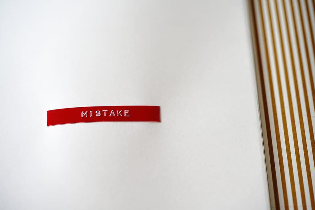 """the word """"mistake"""""""